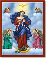 Our Lady Undoer Untier of Knots Icon 4.5x6 Wooden Plaque by Monastery Icons 930MD
