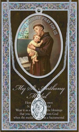 St. Anthony of Padua Patron Saint Oval Medal Patron of Lost Things