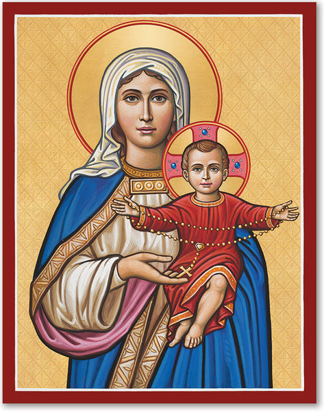 Our Lady of the Rosary Icon 4x6 Print Unframed by Monastery Icons 953MDU