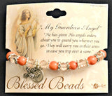 Guardian Angel Pink Beaded Bracelet with Angel & Cross Charms by Blessed Beads 9610CO Hirten