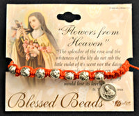 St. Therese Roses From Heaven Rosary Bracelet by Blessed Beads Hirten 9617RSS