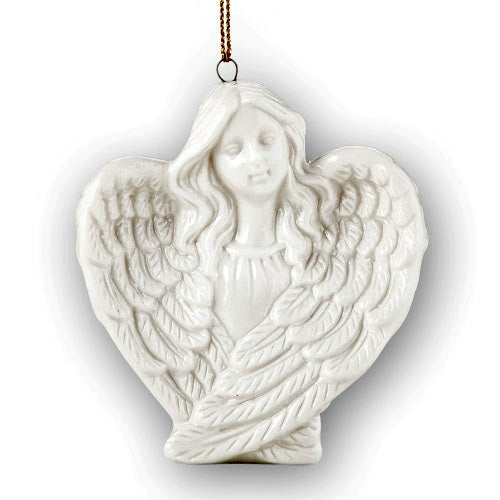 Porcelain White Angel Christmas Tree Ornament