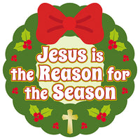 Jesus is the Reason for the Season Christmas Wreath Auto Car Magnet Autom B3778