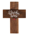 "Bless This House 10"" Rustic Wooden Wall Cross Faithworks B4322"