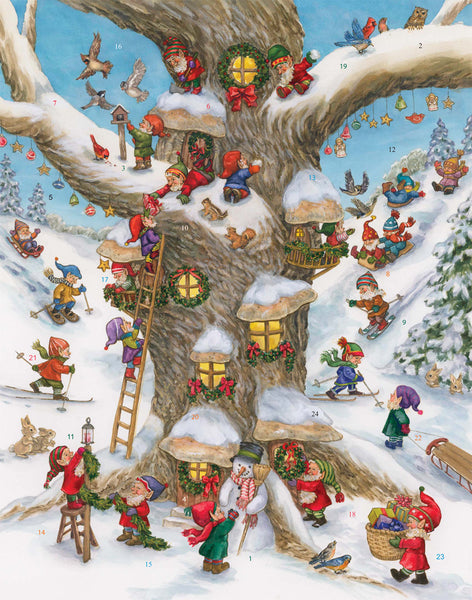 Elf Magic Advent Calendar Nativity Vermont Christmas Company  BB717
