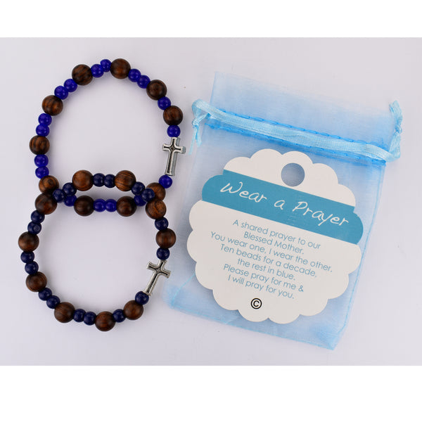 Wear A Prayer Rosary Bracelet Set One for You One for a Friend