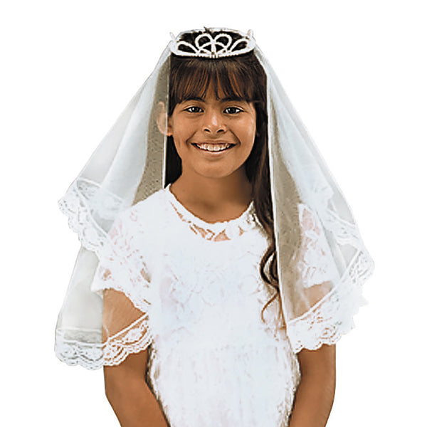 "Tiara Style First Communion 26"" Veil Autom BS124"