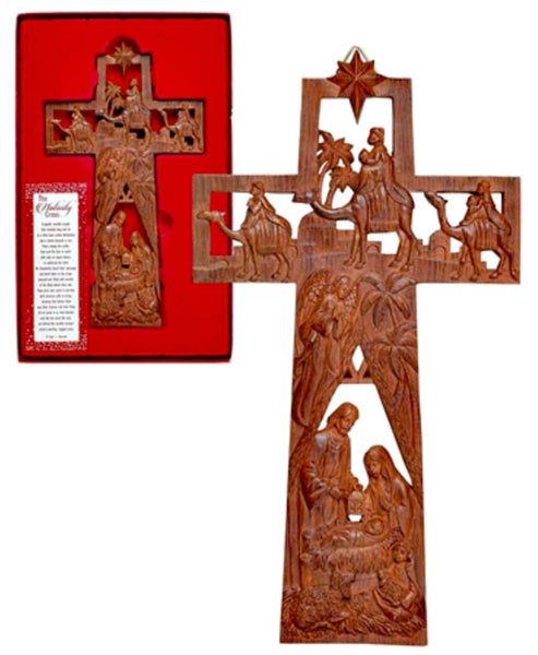 The Nativity Cross Wood Look Dicksons 603799579797