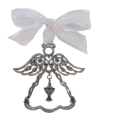 First Holy Communion Rosebud 2.5 Inch Angel Ornament  by Cathedral Art