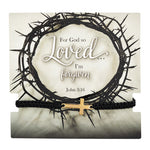 For God So Loved...I Am Forgiven Cord Bracelet with Card John 3:16 Autom D2010