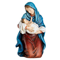 "Kneeling Madonna & Child 12.25"" Statue Figure by Avalon Gallery D3051"