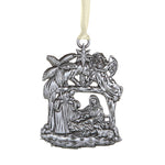 Nativity Stable Antique Style Metal Christmas Ornament Autom D3527