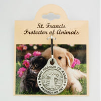 St. Francis of Assisi Protect My Pet Medal for Dog or Cat