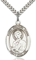 Sterling Silver St. Dominic Savio Patron Oval Medal Pendant Necklace by Bliss