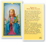 St. Maria Goretti Lamenated Prayer Cards  Hirten E24-486