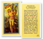 St. Sebastian Patron of Athletes Laminated Prayer Card Pack of 25