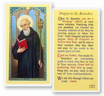 St. Benedict Laminated Prayer Card PACK OF 25