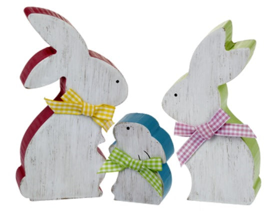 3pc Spring Easter Bunny Set Multi Color Ganz EA12778