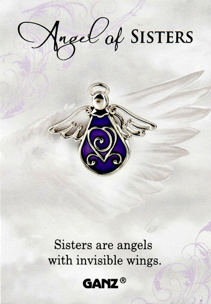 Angel of Sisters Lapel Pin by Ganz