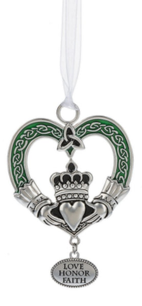 Irish Blessings Metal Oranment YOU CHOOSE Claddagh Celtic Cross Tree of Life