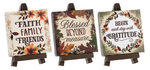 Autumn Decorative Sign & Easel YOU CHOOSE Three Designs Thanksgiving