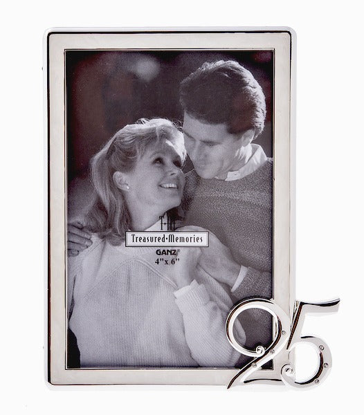 25th Wedding Anniversary Picture Photo Frame