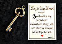 Key to My Heart Charm & Card - Perfect Stocking Stuffer!