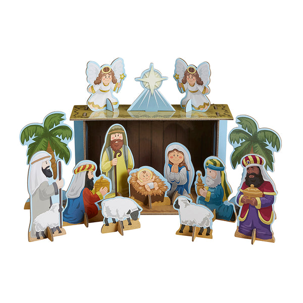 Chipboard Children's Nativity Playset Autom F3133