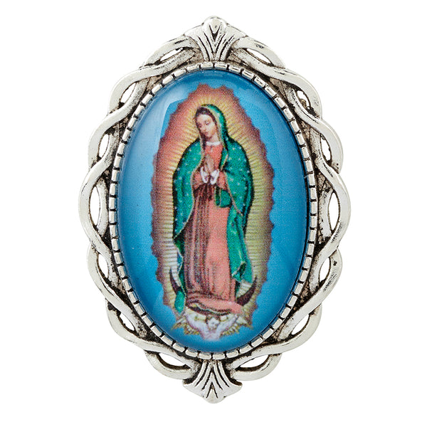 Our Lady of Guadalupe Oval Lapel Pin Autom F3544