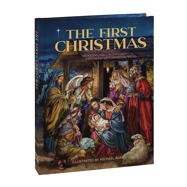 The First Christmas HC Book Michael Adams Illustrations Aquinas Press F3599