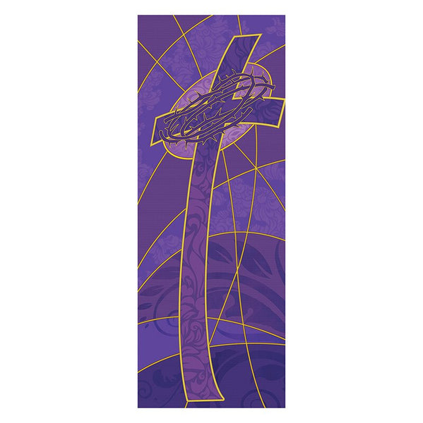Cross & Crown of Thorns Lent X-Stand Banner Celebrations Banners