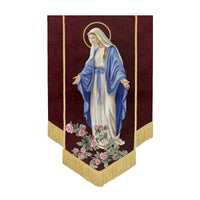 Our Lady of Grace Banner 5'H Virgin Mary - Michael Adams Art