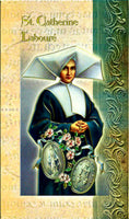 St. Catherine Laboure Bi-Fold Biography & Prayer Card F5-418