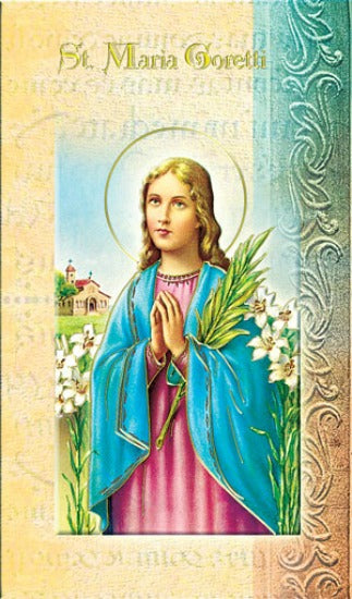 St. Maria Goretti Bi-Fold Biography & Prayer Card Hirten F5-486