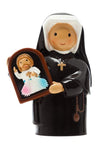 "St. Maria Faustina - Divine Mercy 3.5"" Statue - Little Drops of Water Series"