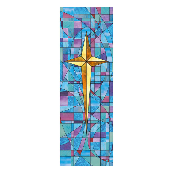 Star of Bethlehem Stained Glass X-Stand Banner by Celebrations Banners G3196
