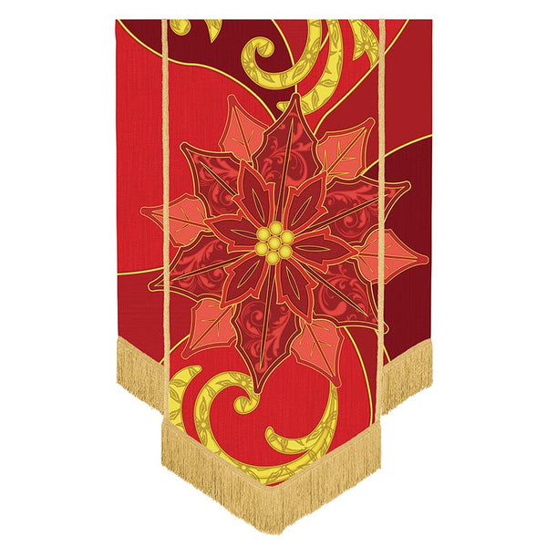 Poinsettia Banner For Home or Churches Michael Adams