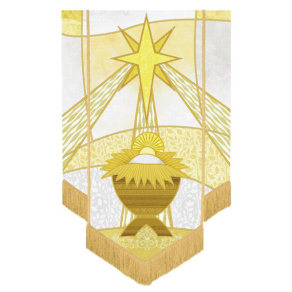 Nativity Manger & Star Banner by Michael Adams