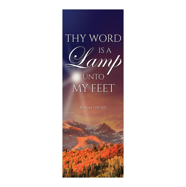 Thy Word is a Lamp Unto My Feet X-Stand Banner by Celebrations Banners G5373