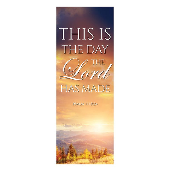 This is the Day the Lord Has Made X-Stand Banner by Celebrations Banners G5374