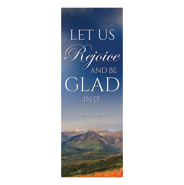 Let Us Rejoice and Be Glad X-Stand Banner by Celebrations Banners G5375