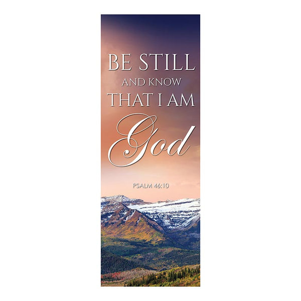Be Still & Know I am God X-Stand Banner by Celebrations Banners G5376