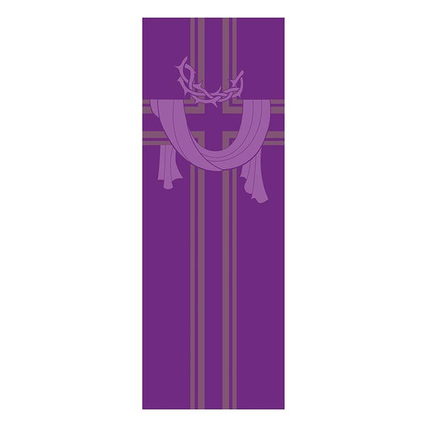 Crown of Thorns & Cross X-Stand Banner Celebrations Banners - Lent