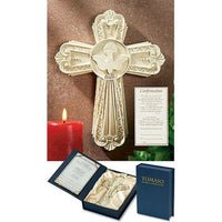 "Tomaso Crosses of Distinction Holy Spirit Confirmation Wall Crucifix 7.5"" Boxed GS251 Autom"