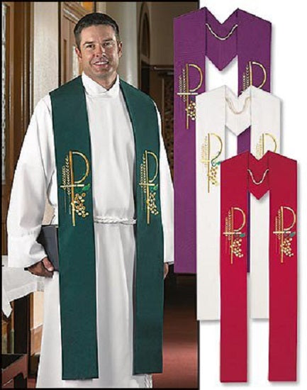 Eucharistic Collection Overlay Stole by R.J. Toomey - Vestment - 4 Colors or Set