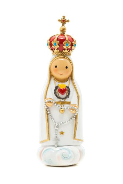 "Immaculate Heart of Fatima 3.5"" Statue - Little Drops of Water Series"