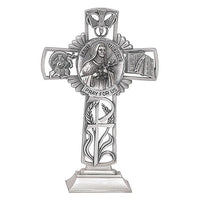 "St. Therese of Lisieux 5"" Pewter Standing Cross"