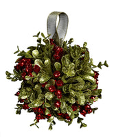 "Kissing Krystals Mistletoe Kissing Ball 5"" Diameter by Ganz KK15"