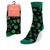 Women's Irish Shamrock Novelty Casual Socks 1PR One Size Fits Most