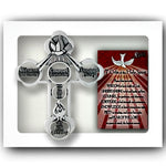 Confirmation Gifts of the Holy Spirit Wall Cross and Prayer Card Cathedral Art